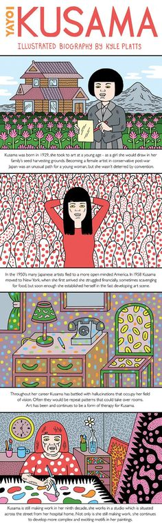 Yayoi Kusama - Art & Installation - Pop Art - Kyle Platts' portraits of artists and designers for Computer Arts Yayoi Kusama, Takashi Murakami, Ecole Art, Computer Art, Japanese Artists, Japanese Pop Art, Arts Ed, Illustrations, Art Plastique