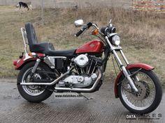 sportster 1000 harley | 1981 Harley Davidson XL / 1 1000 Sportster Ironhead Motorcycle Chopper ...