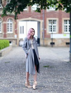 Jana Wind - Asos Coat, Karma Of Charme Boots - Summer boots