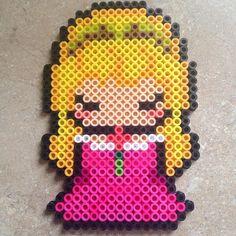 Aurora (Sleeping Beauty) perler beads by meganmorphine - Original design by… Perler Bead Templates, Diy Perler Beads, Perler Bead Art, Pearler Beads, Fuse Beads, Hama Beads Design, Hama Beads Patterns, Beading Patterns, Hama Beads Disney