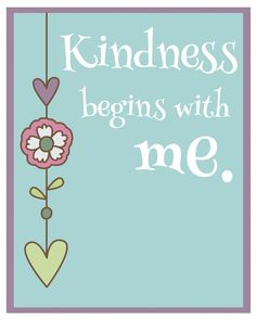 Kindness Begins With Me, a sweet video and a little Sunday inspiration! www.orsoshesays.com #inspiration #printables