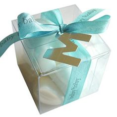 This is an adorable idea for wedding favor gift boxes and tags! :)