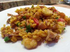 la cocina de Tina: ARROZ CON CALAMARES Y GAMBAS