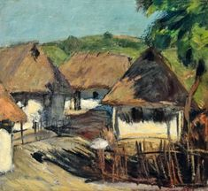 TOROCZKAY OSZVALD (1884-1951) - Falusi házak