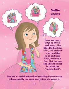 Get Nellie Knows How To Knot A Neck Scarf for your little girl.