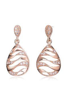 Megan Walford CZ Rose-Tone Sterling Silver Teardrop Cutout Earrings, http://www.myhabit.com/redirect/ref=qd_sw_dp_pi_li?url=http%3A%2F%2Fwww.myhabit.com%2Fdp%2FB0119UE5ZK%3F