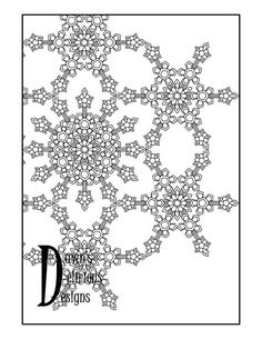 The Snowflake Design 3 Pattern Snowflake Coloring Pages, Snowflake Designs, Snowflakes, Pattern, Etsy, Sterne, Snow Flakes, Model, Patterns