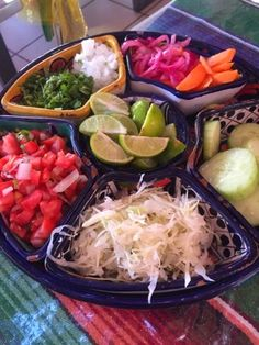 Fit Mama to 3: Cabo Day 4 mexican style taco fixing yumo!