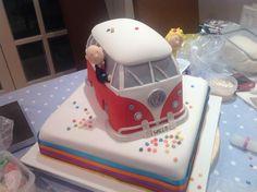 VW camper van wedding cake. #kombilove