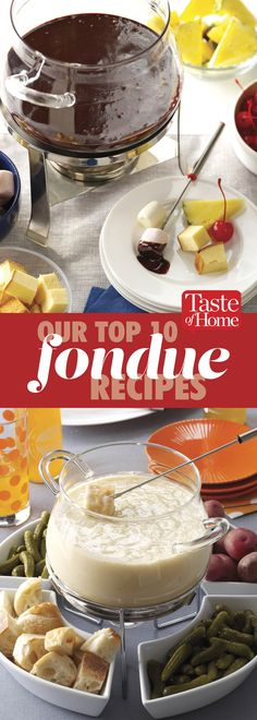 Our Top 10 Fondue Recipes These sweet and savory fondue recipes are perfect for a party. Fondue Recipes, Appetizer Recipes, Dessert Recipes, Cooking Recipes, Desserts, Fondue Ideas, Appetizers, Kabob Recipes, Cooking Fish