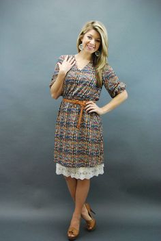V - Neck Dress (lined)