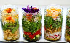 fotos de saladas de pote - Pesquisa Google