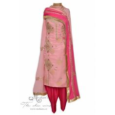 Enchanting pink unstitched benarasi buti suit accentuated with exquisite handwork-Mohan's the chic window