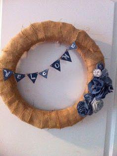 Bella Sky Designs..... The Blog: Burlap & Denim Wreath