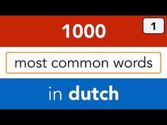 Learn Dutch online | Basic Dutch vocabulary - lesson 1 - New version! - YouTube