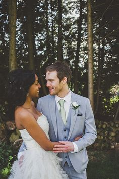 Gorgeous interracial couple wedding photography - www.blackwomenwhiteman.org  #love #wmbw #bwwm