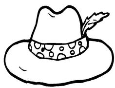 colouring page of hat