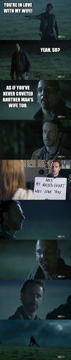 For those who knew Andrew Lincoln before he was the sheriff... It took me the whole first season to not see him as his Love, Actually character.