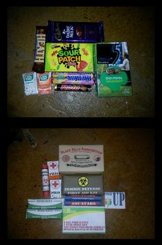 Zombie Survival Kit by KerriChan on deviantART, did this for fathers day was really cool, really fun