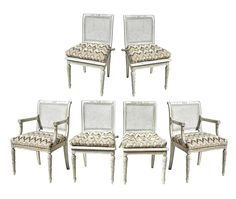 French Chairs in Greige | From a unique collection of antique and modern dining room chairs at https://www.1stdibs.com/furniture/seating/dining-room-chairs/