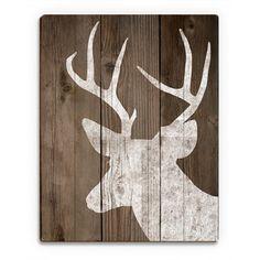 Rentiere an Deck & # Gedruckte Wandk. Rentiere an Deck & # Gedruckte Wandkunst aus Holz, Wooden Wall Art, Wooden Signs, Wood Wall, Art On Wood, Diy Pallet Projects, Wood Projects, Deer Decor, Deer Hunting Decor, Deer Silhouette