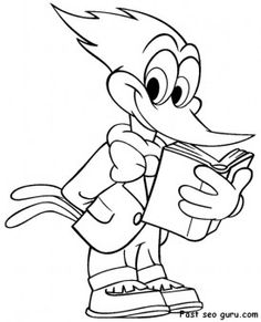 prinable cartoon woodpecker coloring pages printable coloring pages for kids