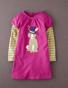 Ive spotted this @BodenClothing Fun Logo Dress Vivid Plum Bunny