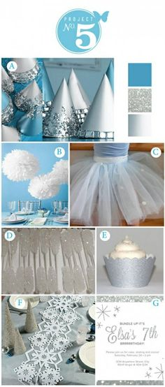 winter party so cute! Great theme for Christmas/ winter white! Love the snowflake table runner (fiesta party decorations disney frozen) Winter Birthday Parties, Disney Frozen Party, Frozen Birthday Party, Birthday Party Themes, Birthday Ideas, Cake Birthday, 5th Birthday, Olaf Party, Ice Skating Party