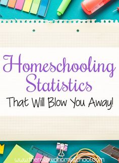 Do you homeschool? Thinking about homeschooling? Check out these homeschooling statistics!