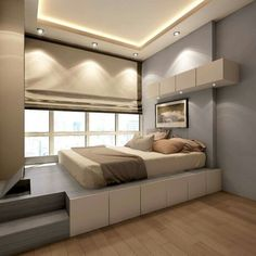 Have a small bedroom? Maximize every inch of space in your small bedroom. These design ideas will show you where to place each furniture piece to optimize your space. Related: for Men Small Bedroom Small Bedroom for Women Decor Small Bedroom Designs, Small Room Bedroom, Trendy Bedroom, Small Rooms, Home Bedroom, Modern Bedroom, Small Spaces, Bedroom Ideas, Bed Ideas