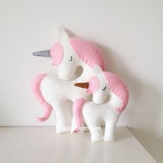 Unicorn with a gold or silver horn Large 20cm by NikisBirdhouse