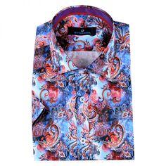 Şal desenli fashion erkek gömlek modeli