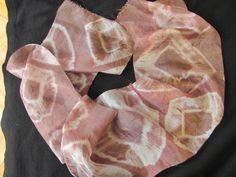 Tie-dye with mahony on silk