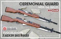 Ceremonial Guard Yugoslavian Model 59/66 7.62x39 SKS Rifles