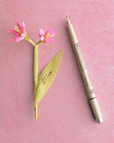 Fleur en papier crépon - tutoriel