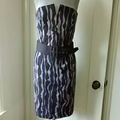 Trina Turk strapless dress Fully lined. Belt included. Soft cotton fabric. In good shape. Sexy bodice. Trina Turk Dresses Strapless