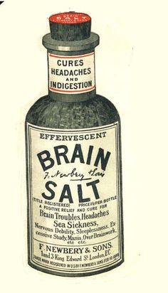 '1890s, UK' brain salt headaches humour medicine indigestion medical
