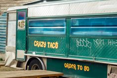 Crazy taco green taco truck in Seattle, WA