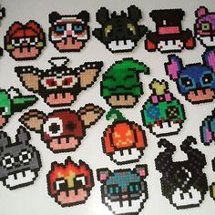 craft_whore instagram photo Diy Perler Bead Crafts, Diy Perler Beads, Pearler Beads, Kandi Patterns, Hama Beads Patterns, Beading Patterns, Hama Beads Mario, Hamma Beads Ideas, Stitch Games
