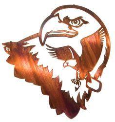 Liberty Eagle Scene Laser Cut Metal Wall Art