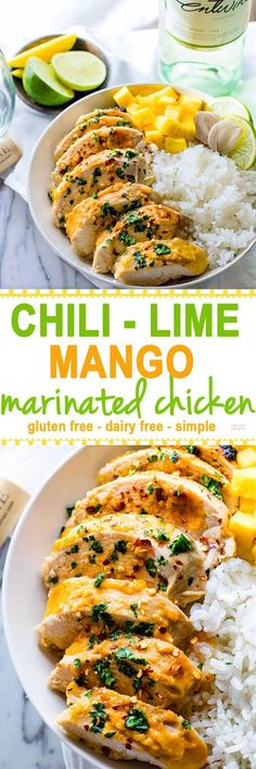 This Marinated Chicken recipe is super easy to make, healthy, dairy free, and de