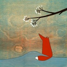 "The fox and the marshmallows: Print by Kristiana Pärn on Etsy (8.5"" x 11"", $20.00) #illustration #fox #kristiana_parn"