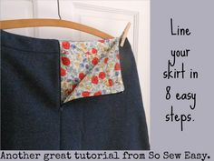 How to line a skirt