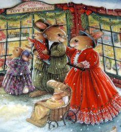 Christmas shopping .@@@@@.....http://www.pinterest.com/jennifergbrock/vintage-christmas-images-art-illustration-that-evo/