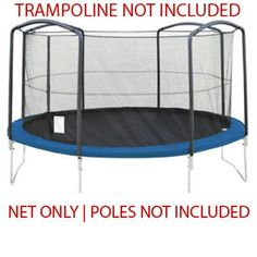 Skybound 14 Trampoline Enclosure Net 6 Top Ring Poles