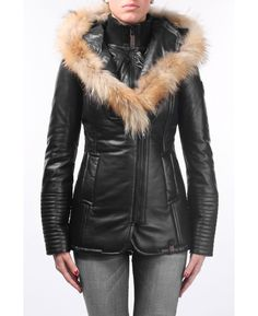 RUDSAK Outerwear (BLACK, LEATHER AND RACCOON FUR) | 5113022
