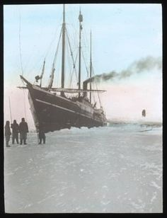 The Algomah is stuck in the ice again...jk, I don't know what ship this is. Peary-MacMillan Arctic Museum, Brunswick
