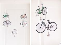DIY bike mobile for baby& room Tiny Monkey, Baby E, Diy Artwork, Kid Spaces, Cool Baby Stuff, Home Projects, Modern Decor, Baby Room, Kids Room