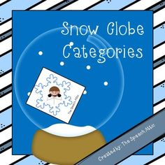 Free! Snow Globe Categories! This fun winter themed pack is perfect for working on categorization and vocabulay...8 snow globes and 24 snowflakes