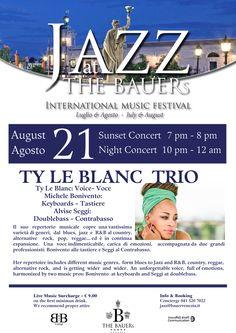 In una cornice di rara bellezza come la terrazza del Hotel The BAUERs Venezia, a due passi da Piazza San Marco, la voce intensa come poche di Ty LeBlanc. I sogni alle volte si fan realtà!!!